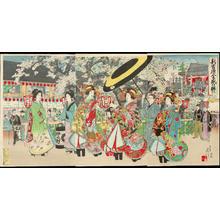 Watanabe Nobukazu: Flourishing Shin Yoshiwara - 新吉原全盛の賑ひ - Ohmi Gallery