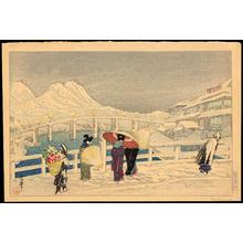 織田一磨: The Great Bridge at Matsue - Ohmi Gallery