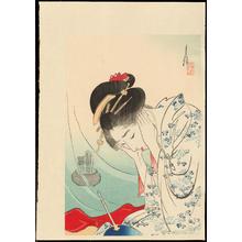 尾形月耕: First Snow - 初雷 - Ohmi Gallery