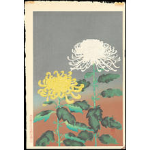 大野麦風: Chrysanthemum (Yellow and White) - Ohmi Gallery