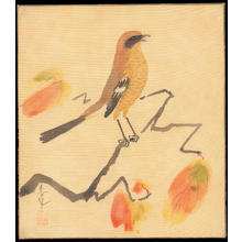 Bakufu Ohno: Shrike on Persimmon Branch - Ohmi Gallery