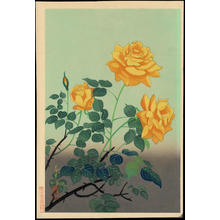 Bakufu Ohno: Yellow Rose - 黄色い薔薇 - Ohmi Gallery