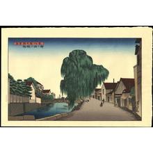 Gihachiro, Okuyama: Yanagi Willow on the Bank of the Misogi River at Nanao - Ohmi Gallery