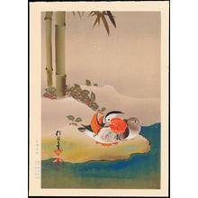 酒井抱一: Mandarin Ducks and Bamboo (1) - Ohmi Gallery