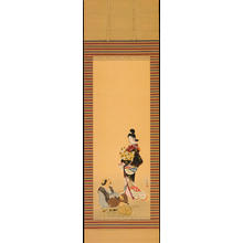 Shoen Uemura: Bijin and Wood Carver (1) - Ohmi Gallery