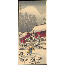 渡辺省亭: After Snow at Hakone Shrine - Ohmi Gallery