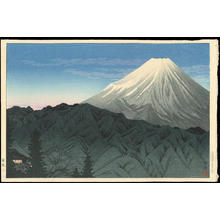 渡辺省亭: Mt Fuji from Hakone - 箱根 - Ohmi Gallery