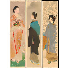 Various artists: Snow (Shinsui), Moon (Kiyokata), Flower (Yamakawa) - Ohmi Gallery