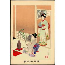 宮川春汀: Ikebana (Flower Arranging) (1) - Ohmi Gallery