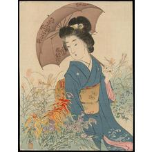 Suzuki, Kason: Bijin and Parasol (1) - Ohmi Gallery
