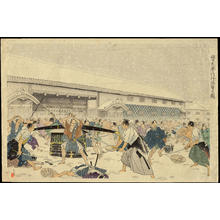 Suzuki Sujaku: Violent Attack Outside the Gate - 門外激撃の図 (1) - Ohmi Gallery