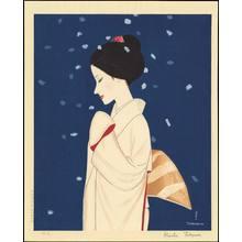 Takasawa Keiichi: Large Snowflakes - ボタン雪 - Ohmi Gallery