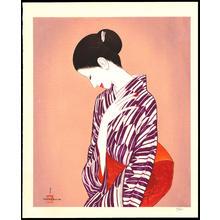 Takasawa Keiichi: Woman in kimono - Ohmi Gallery