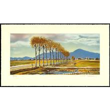 栗山茂: Rice Field Autumn Breeze (Niigata Prefecture) - 畦の秋風 - Ohmi Gallery