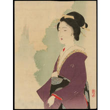 Takeuchi Keishu: A Regal Bijin (1) - Ohmi Gallery