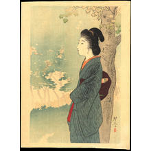 Terazaki, Kogyo: Beauty and Red Maple - 満州の花 (1) - Ohmi Gallery