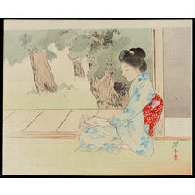 Terazaki, Kogyo: Relaxing in the Evening - 夕すずみ - Ohmi Gallery