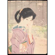 Ikeda, Terukata: Bijin Looking Shy (1) - Ohmi Gallery