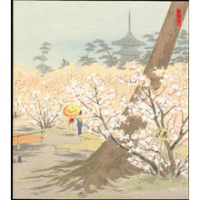 徳力富吉郎: Cherry Trees at Omuro - 御室の桜 - Ohmi Gallery