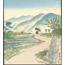 Tokuriki Tomikichiro: New Green Leaves at Ohara - 新緑の大原 - Ohmi Gallery