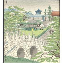 Tokuriki Tomikichiro: Nishi-Honganji Temple - 西大谷の雨 - Ohmi Gallery