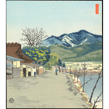 Tokuriki Tomikichiro: Distant View of Atagoyama - 愛宕山遠望 - Ohmi Gallery