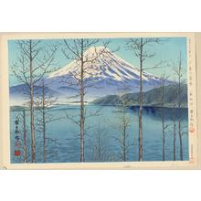 Tokuriki Tomikichiro: No. 1- Fuji In Early Spring (Lake Motosu) - 早春の冨士(本栖湖) - Ohmi Gallery