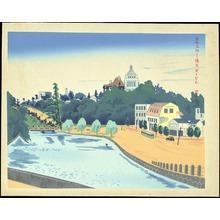 Tokuriki Tomikichiro: Akasaka Mitsuke - 赤坂見附 - Ohmi Gallery