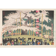 徳力富吉郎: Night Sakura at Maruyama Park - 円山公園夜桜 - Ohmi Gallery