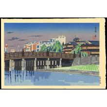 Tokuriki Tomikichiro: Sanjo Bridge, Kyoto - Ohmi Gallery