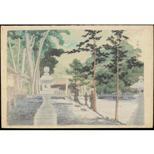 Tokuriki Tomikichiro: Kishu Nichizengu Shrine - 日前宮 - Ohmi Gallery