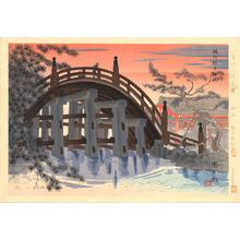 Tokuriki Tomikichiro: Sesshu Sumiyoshitaisha Shrine - 摂州住吉大社 - Ohmi Gallery