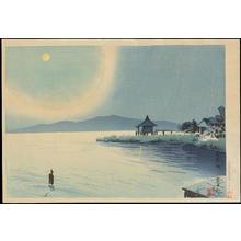 Tokuriki Tomikichiro: Lake Biwa (Ohmi Katata Ukimi-do) - 琵琶湖 - Ohmi Gallery