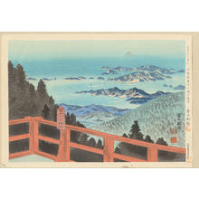 徳力富吉郎: No. 20- Distant View of Fuji from Ise Asama Mountain - 伊勢朝熊山より富士遠望 - Ohmi Gallery