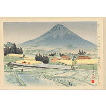 徳力富吉郎: No. 3- Rain At Kiraba (at the base of Mt Fuji) - 裾野狩場の雨 - Ohmi Gallery