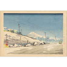 Tokuriki Tomikichiro: No. 31- Fine Weather After The Storm In Tokyo Ochanomizu - 東京お茶の水乃雪晴 - Ohmi Gallery