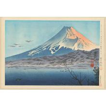 徳力富吉郎: No. 35- Fuji From West Izu Coast - 西伊豆海岸曉暗の富士 - Ohmi Gallery