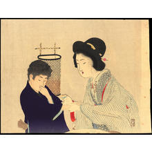 Tomioka Eisen: Cover With Cloth (Shiba Hi Nuno) - 柴被布 (1) - Ohmi Gallery