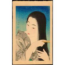 鳥居言人: Hair Combing - 髪梳き - Ohmi Gallery
