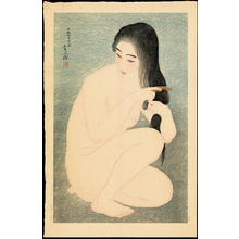 鳥居言人: Combing Hair - Ohmi Gallery