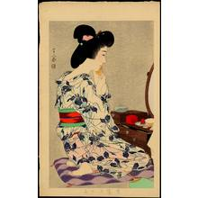 Torii Kotondo: In a Light Summer Kimono with Irises - Ohmi Gallery