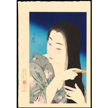 Torii Kotondo: Hair Combing - 髪梳き - Ohmi Gallery