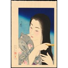 Torii Kotondo: No. 1 - Hair Combing - 髪梳き - Ohmi Gallery