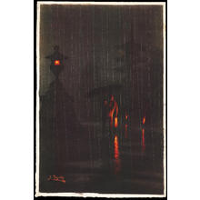 Tosuke S: Pagoda on a Rainy Night (1) - Ohmi Gallery