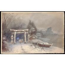 Tosuke S: Shrine Entrance in a Snowstorm (1) - Ohmi Gallery