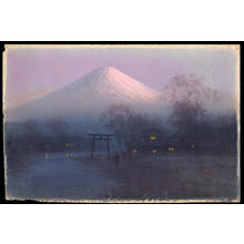 Tosuke S: Village by Mt Fuji at Dawn (1) - Ohmi Gallery