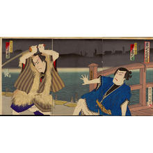 Toyohara Kunichika: Kihachijo Ooka Seidan - 黄八丈大岡政談 - Ohmi Gallery