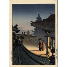 風光礼讃: Evening at Miidera Temple - 夜の三井寺 - Ohmi Gallery