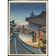 Tsuchiya Koitsu: Evening at Miidera Temple - 夜の三井寺 - Ohmi Gallery