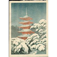 Tsuchiya Koitsu: Nikko Five-Storey Pagoda - 日光五重塔 - Ohmi Gallery